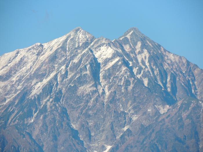 アルプス二度目の冠雪