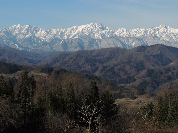 午前中の仁科三山