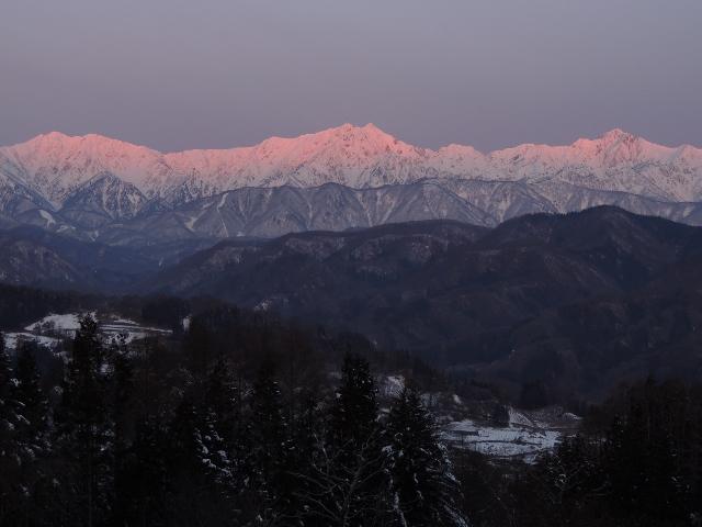モルゲンロートの仁科三山