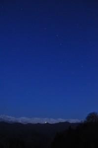 アルプスと北斗七星