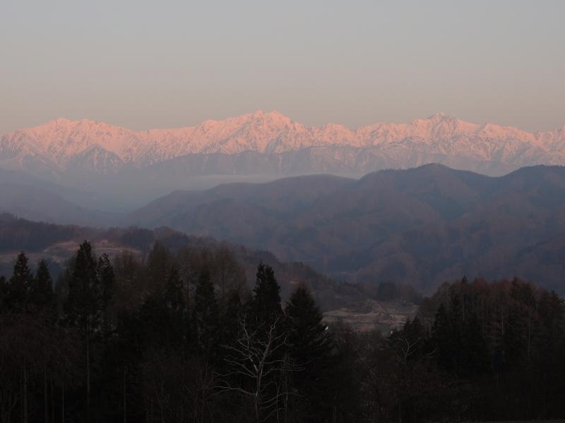 零下でも、柔らかな朝のアルプス