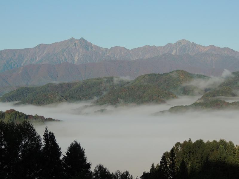 鹿島槍ヶ岳と五竜岳