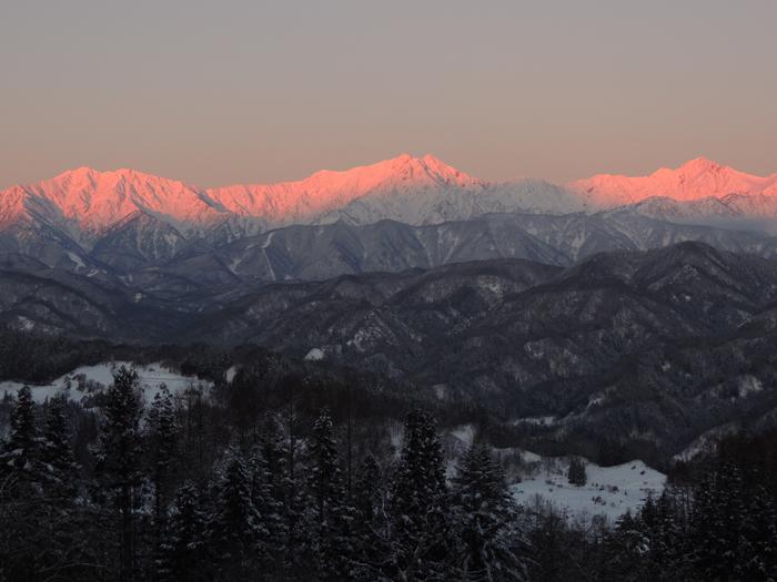 仁科三山のモルゲンロート