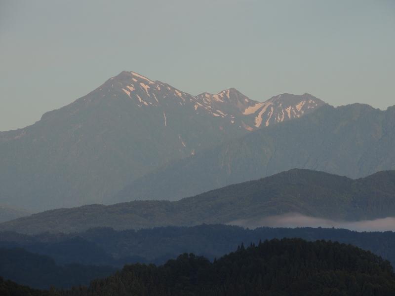 蓮華岳と針ノ木岳