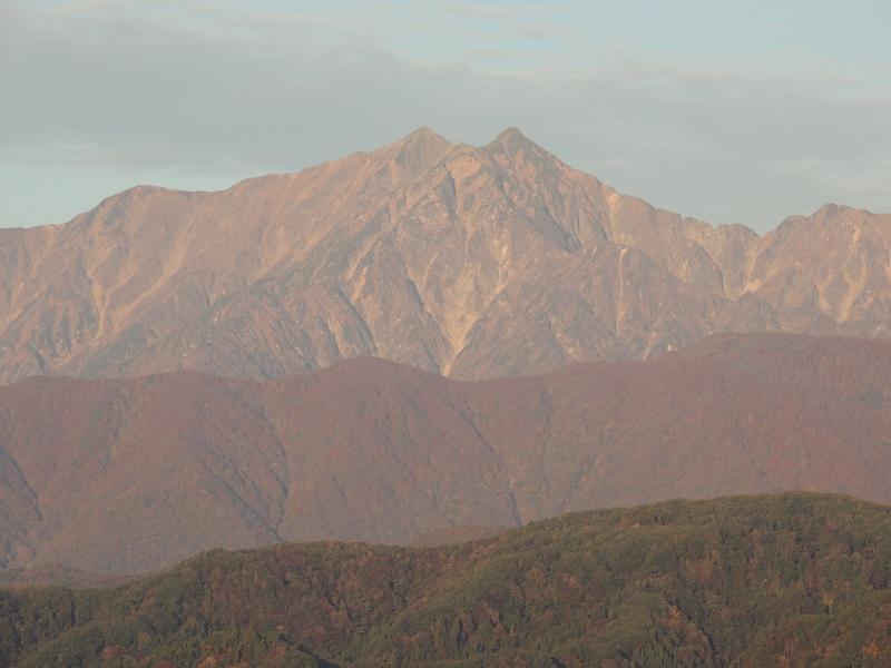 鹿島槍ヶ岳と前山