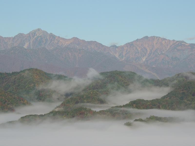五竜岳と唐松岳